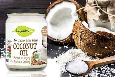 Coconut Merchant - 500ml jar of organic raw extra virgin coconut oil - Save 64%