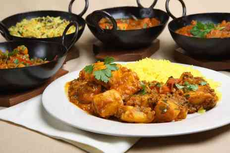 Tikka Masala - Two course Indian dining for two including a glass of wine or beer each - Save 43%