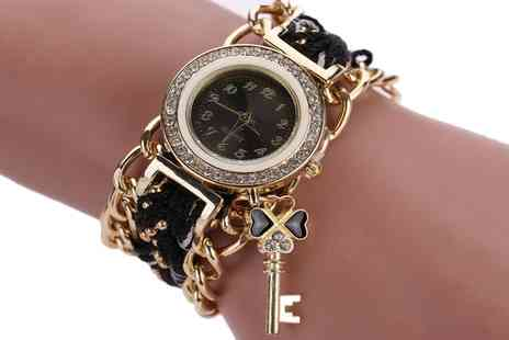 Groupon Goods Global GmbH - One or Two Ayla Key Charm Watches with Crystals from Swarovski - Save 68%