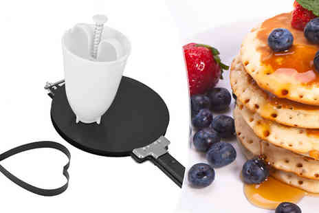 Fusion - Easy Flip Pancake Maker With Free Batter Dispenser - Save 77%