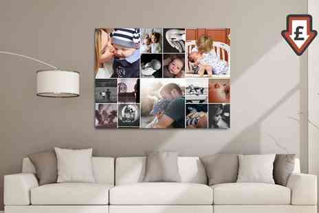 Grangeprint - Personalised Collage Canvases Print - Save 93%