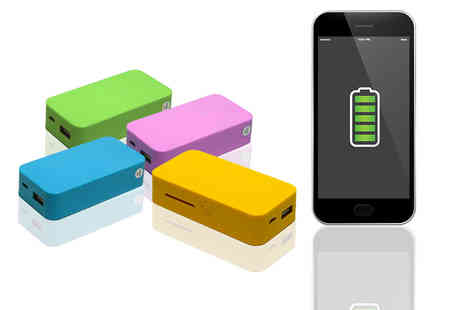 eOutlet - 5200mAh powerbank choose pink, blue, yellow or green - Save 71%