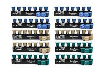 Fine Coffee Club - 100 Nespresso compatible capsules receive a blended selection of two espressos and one Lungo - Save 49%
