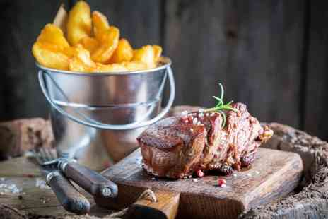 Signature Steakhouse - Steak, chips and salad dinner for two people with a glass of Prosecco each - Save 34%