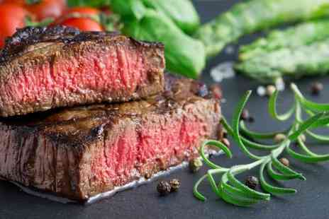 24 Bar & Grill - Flat iron steak meal with a sauce, side dish and glass of Prosecco each for two people - Save 50%
