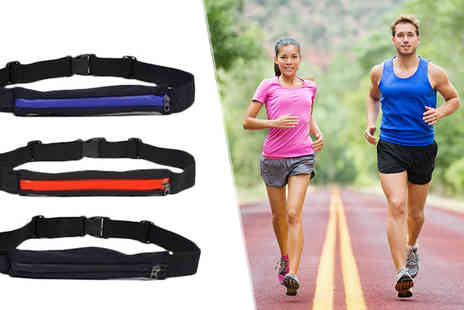 121 Mart - Waterproof Running Belt with Large Pocket Available in Three Colours - Save 80%