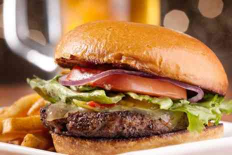 The White Hart - Burger with Two Sides and Wine or Beer for One or Two - Save 0%
