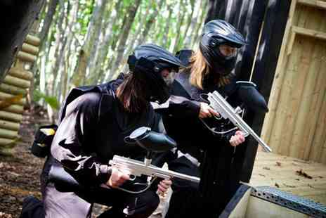Thunder Ridge Paintball - Day of paintball for up to 10 people including 100 balls each and a light lunch - Save 95%