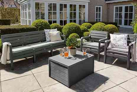 Out and Out Original - An Allibert Delano Five seater lounge set choose taupe or graphite - Save 57%