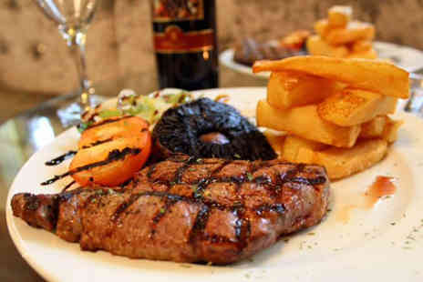 The Royal Station Hotel - Steak dining for two people with a bottle of wine to share  - Save 51%