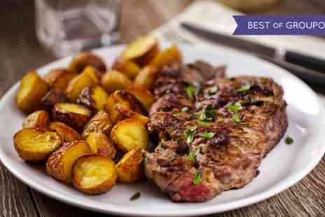 The Green Caerleon - Two Course Flat Iron Steak Meal with Wine for Two or Four - Save 54%