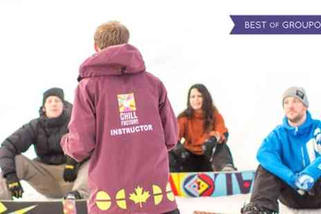 Chill Factore - Beginner Ski or Snowboard Lesson for One or Two - Save 51%
