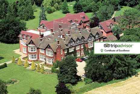 Scalford Hall Hotel - Overnight Leicestershire stay for two with breakfast, light bite meal and tribute act event - Save 49%