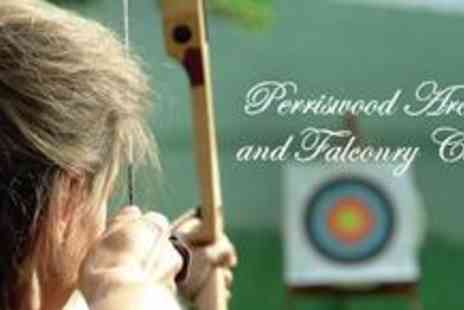 Perriswood Archery & Falconry centre - Birds, Bullets and Bows experience for two plus access to the micro pigs, guinea pigs, marmosets and more - Save 65%
