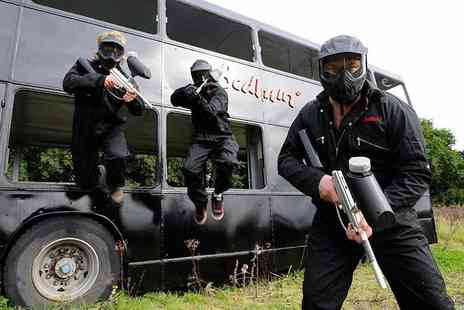 Bedlam Paintball - Paintballing day for up to 10 people - Save 90%