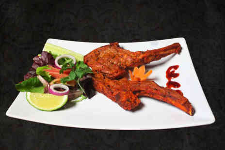 Mumbai Square - Two course Indian dining with sides for two people and a glass of wine each - Save 63%