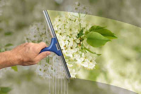 UK Window Clean - Two or three sessions of professional window cleaning or with gutter clean - Save 64%