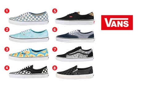 IDT Spa - Pair of Vans low top or hi top trainers choose from 10 styles - Save 64%