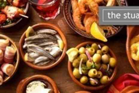 The Stuart Hotel - Eleven Dish Tapas Sharing Meal For Two - Save 61%