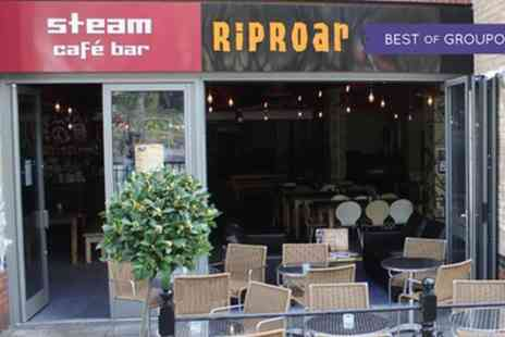 RipRoar Comedy - Ticket to a Riproar comedy show with meal on 22 April To 30 June - Save 55%