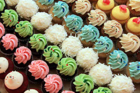 Buckleys Bakery - 12 cupcakes & home delivery in a choice of red velvet, chocolate & vanilla - Save 50%
