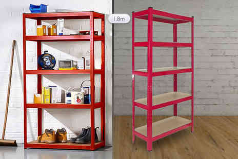 Plus Bee - 1.8m adjustable heavy duty racking unit choose from three colours - Save 83%