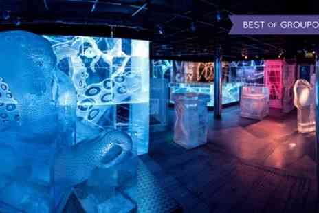 ICEBAR LONDON - Three Course Meal and Icebar Experience with Sparkling Aperitif for Up to Six - Save 36%