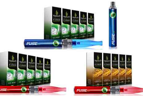 Vapouriz - Vapouriz Fuse E Cigarette Starter Kit with E Liquids with Free Fuse Battery With Free Delivery - Save 65%