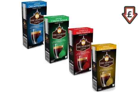 Groupon Goods Global GmbH - 100 or 200 Tre Venezie Nespresso Compatible Capsules - Save 21%