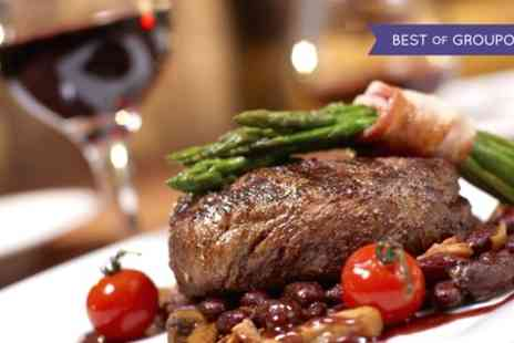 Skylark Golf and Country Club - Sirloin Steak and Chips with a Glass of Wine for Two or Four - Save 44%