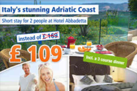 Hotel Abbadetta - Discover Italys stunning Adriatic Coast for 2 people - Save 36%