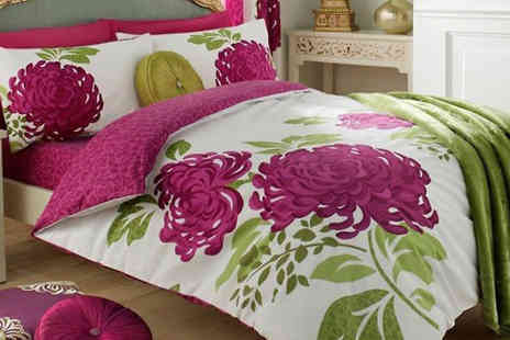 luxury bed and warehouse - Flower Print Duvet Set Three Colours - Save 75%