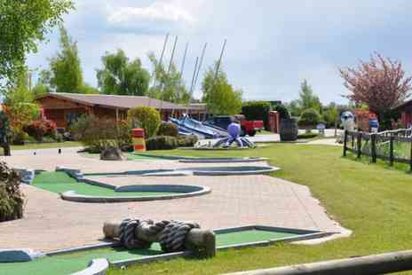 Bosworth Water Park - Family outing with crazy golf and snacks for four - Save 64%