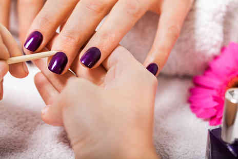 Dahlia Hair and Beauty - Shellac manicure and pedicure - Save 58%