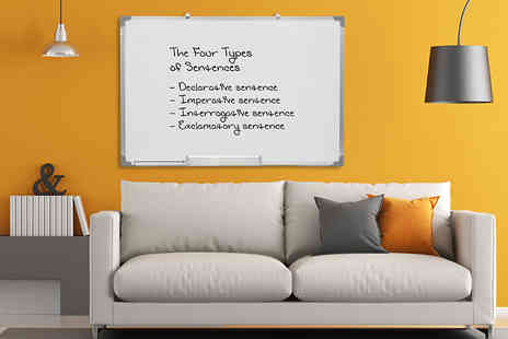 Plus Bee - 90cm x 60cm magnetic dry wipe whiteboard - Save 66%