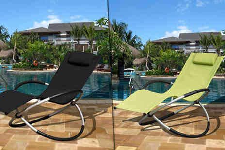 luxury bed and warehouse - - 1 or 2 Foldable Zero Gravity Rocking Lounger Chair in 2 Colours - Save 58%