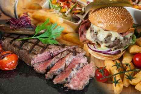 The William B - Steak or Gourmet Burger with Cocktails for Two or Four - Save 58%