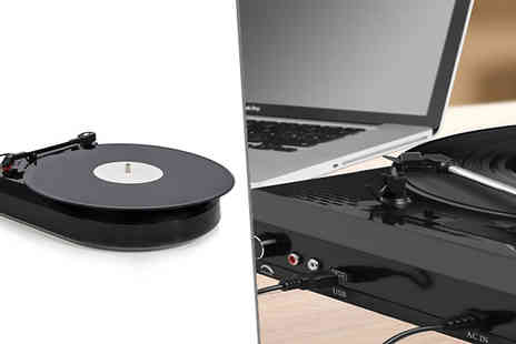 Internet Shop - Vinyl to MP3 Converter Black USB Turntable with Integrated Speakers - Save 56%
