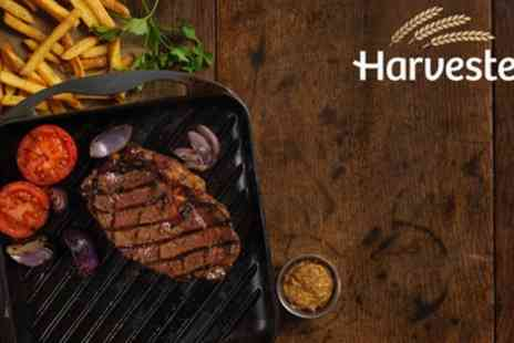 Harvester - Steak, Ribs or Chicken Meal with Choice of Drinks and Unlimited Salad - Save 38%