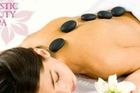 Holistic Beauty Spa - Full Body Hot Stone Massage With Facial, Scalp Massage and Hot Stone Hand and Foot Treatment For Two - Save 83%