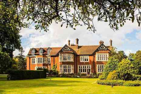 Scalford Hall Hotel - Overnight Melton Mowbray stay for two including a Christmas summer party with barbecue and breakfast - Save 59%