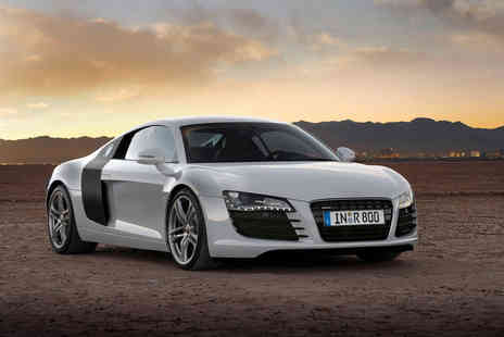 Car Chase Heroes - Iron Man inspired Audi R8 driving experience with three laps - Save 61%