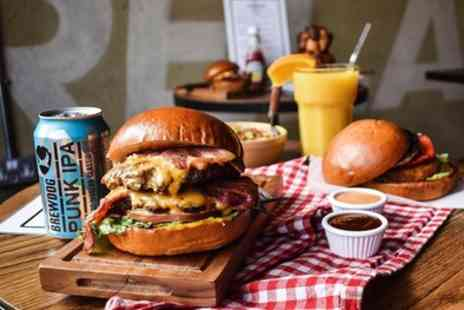 Kick And Munch - Burger Meal with Milkshake or Soft Drink or Beer or Cocktail for Up to Six - Save 52%