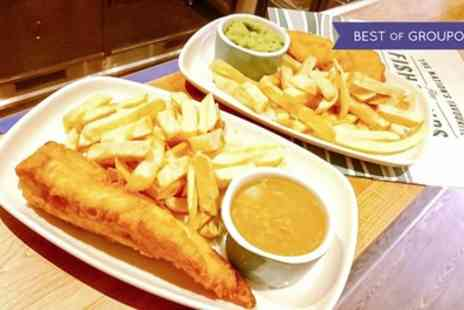 Canterbury Tails - Fish and Chips with Wine for Two, Three or Four - Save 51%