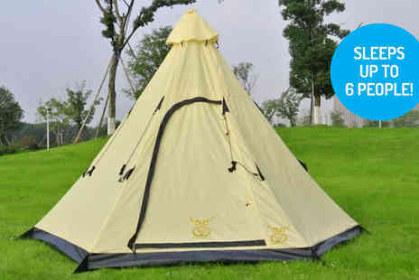 Mccalifornia - Six Person Teepee Tent - Save 78%