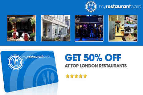 My Restaurant Card - £5 for a 12-month membership to My Restaurant Card, worth £25 - Save 80%