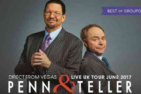 AEG Presents - One ticket to see Penn and Teller Live UK Tour 2017 on 11 To 25 June - Save 49%