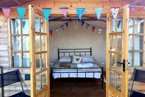 Abels Harp - Overnight glamping stay for two including afternoon tea and hot tub access - Save 0%