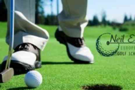 Neil Evans European Golf Schools - Three Day Golf Course With Tuition and 18 Hole Round For One - Save 60%