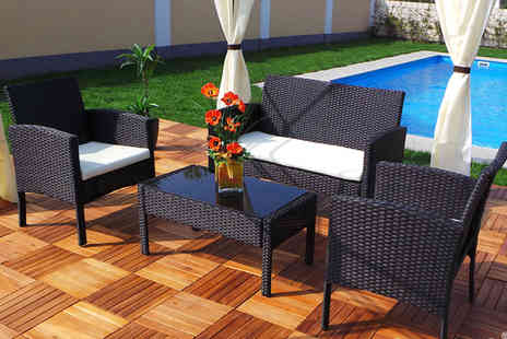 EveMotion GmbH - Four piece extra large rattan garden set, with a limited number available - Save 74%